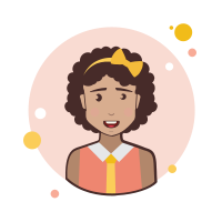Brown Curly Hair Business Lady With Bow icon