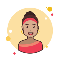 Brown Curly Hair Lady With Golden Earrings icon