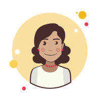 Brown Curly Hair Lady With Red Earrings icon