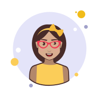 Brown Hair Lady With Bow and Glasses icon