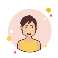 Brown Short Hair Lady in Yellow Shirt icon
