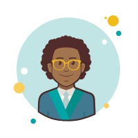 Business Man in Yellow Glasses icon