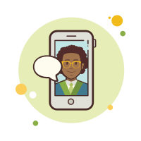 Business Man Messaging icon