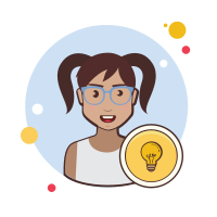 Clever woman icon