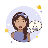 Girl and Chemical Test Tube icon