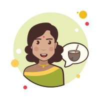 Girl and Coconut Cocktail icon