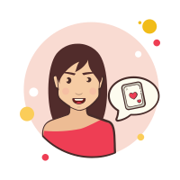 Girl and Playing Card icon