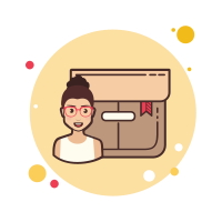 Girl With Glasses Product Box icon