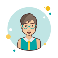 Grey Hair Business Lady With Green Glasses icon