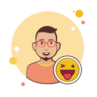 Happy man icon