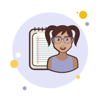 Lady With a Notebook icon