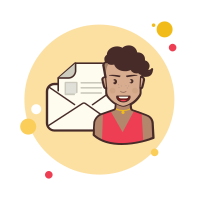 Lady With Envelope icon