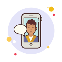 Male Student Messaging icon