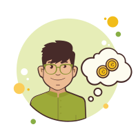 Man in Green Shirt Coins icon