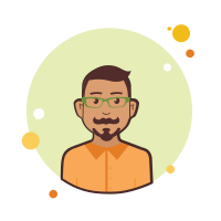 Man in Orange Shirt icon