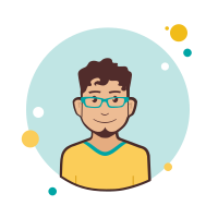 Man in Yellow T Shirt icon