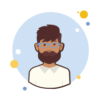 Man With Beard in Blue Glasses icon