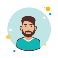 Man With Beard in Green T Shirt icon