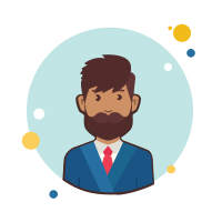 Man With Beard in Suit icon
