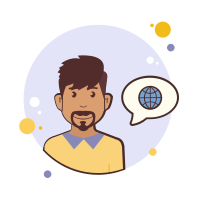 Man With Mustaches Globe icon
