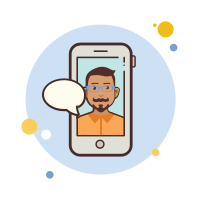 Man With Mustaches Messaging icon