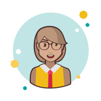 Short Hair Business Lady With Glasses icon