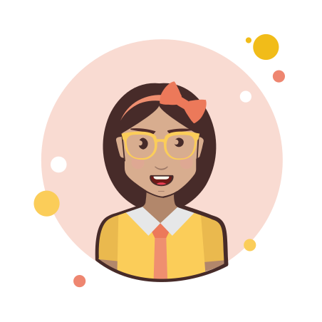 Brown Hair Business Lady With Glasses icon