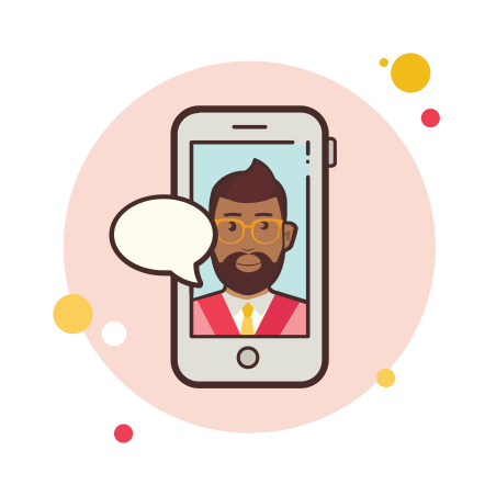 Business Man With Beard Messaging icon