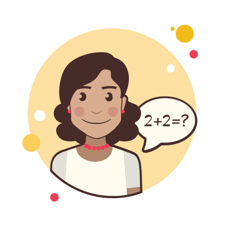 Girl and Math Equation icon