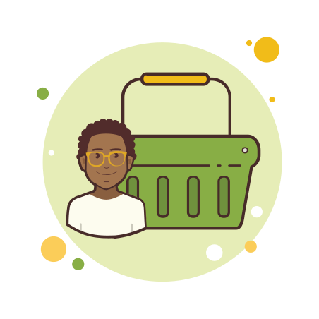 Man Green Shopping Basket icon