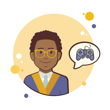 Man in Jacket Game Controller icon