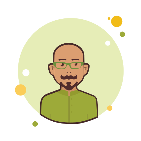 Man With Mustaches and Beard in Green Shirt icon