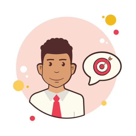 Man With Red Tie Target icon