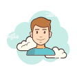 clouds user icon