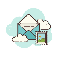 Open Envelope Stamp icon