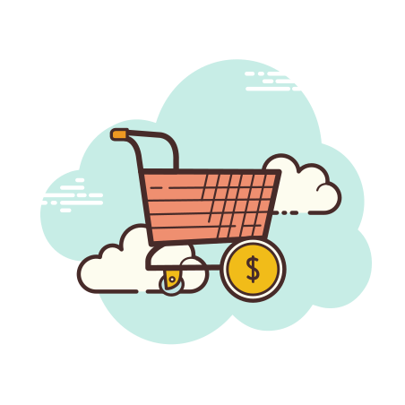 Shopping Cart With Money icon