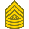 Sergeant Major of Army SMA icon