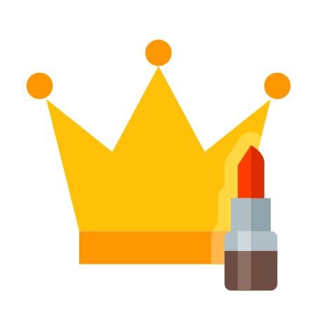 Crown and Lipstick icon