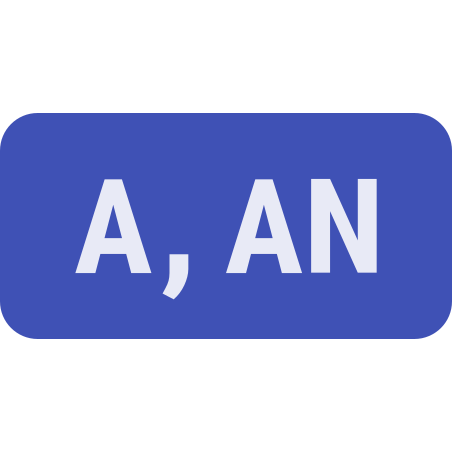 Indefinite Article icon