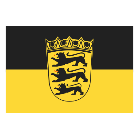 Lesser State Flag of Baden Wurttemberg icon