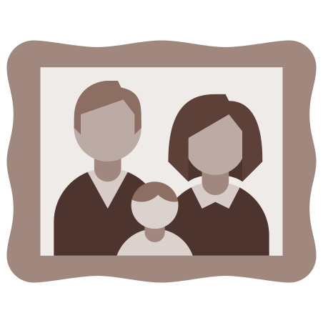 Old-Fashioned Family Photo icon