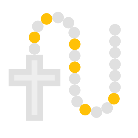 White Rosary icon
