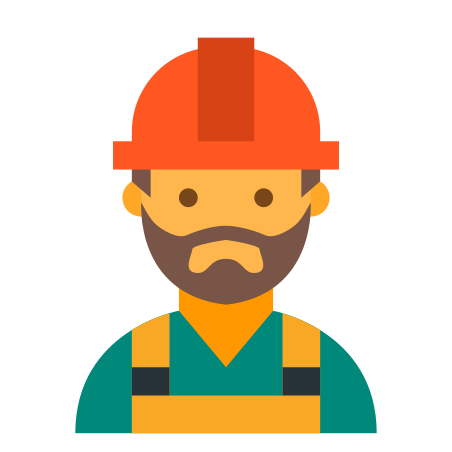 Worker Beard icon