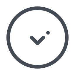 circled chevron-down icon