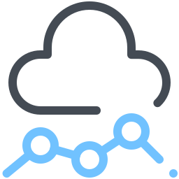 Cloud Line Chart icon