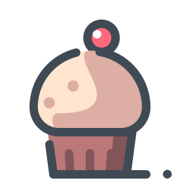 Cupcake With a Berry icon