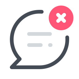 Delete Message icon