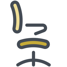 Desk Chair Side View icon