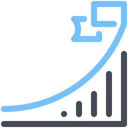 growth and-flag icon