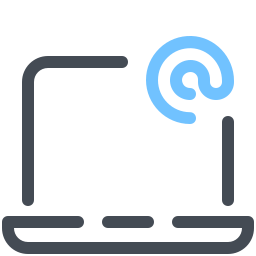 Laptop E-Mail icon